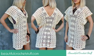Crochet Leaf Tunic ~ Jane Green - Beautiful Crochet Stuff