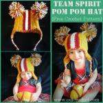 Team Spirit Pom Pom Hat ~ Oui Crochet