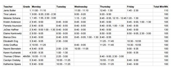 PE_Schedule