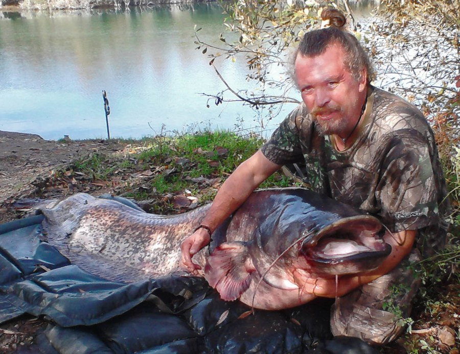 Current lake record catfish of 131lb