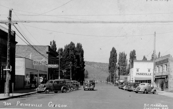 Third Street in Prineville taken in 1938