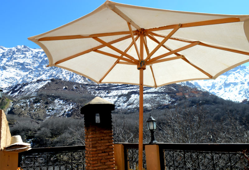 umbrella at kasbah du toukal in atlas mountians near marrakech morocco eileen cotter wright