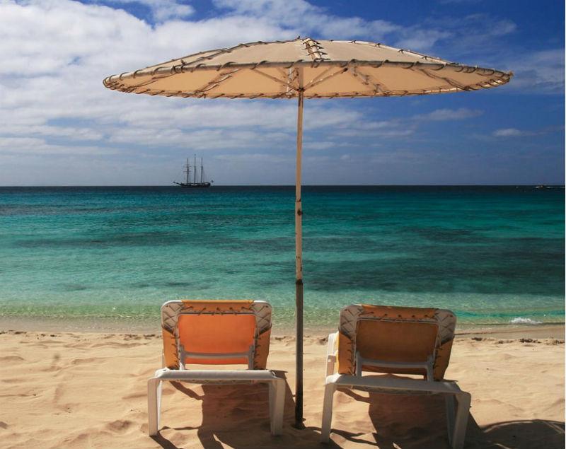 beach chairs cape verde via flickr