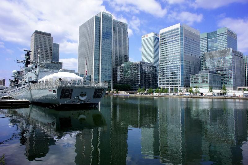 london waterfront thames
