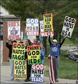 "money-grubbing Westboro ""protestors"""