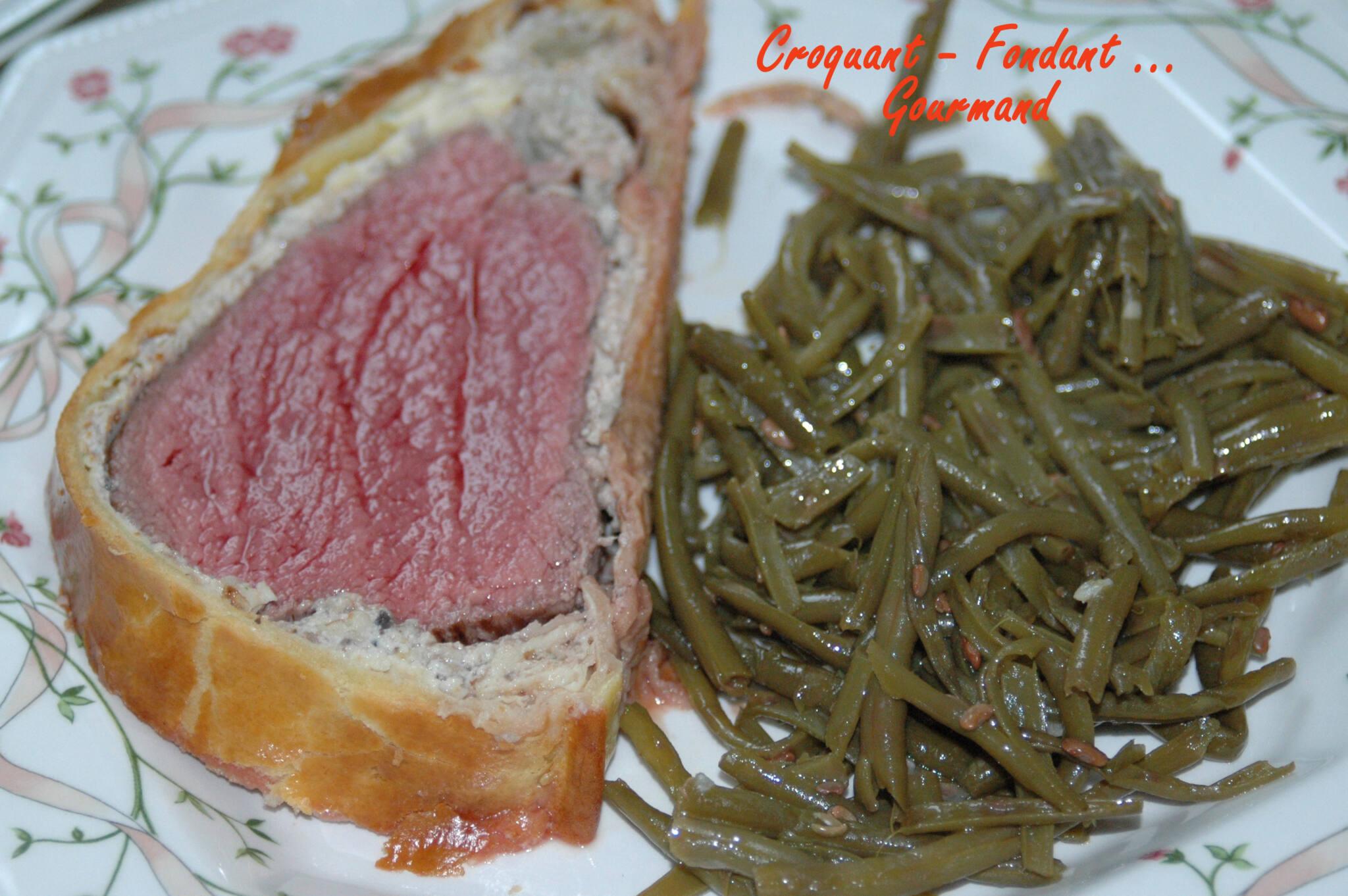 Filet de b uf en cro te de champignons croquant fondant gourmand - Cuisson filet de boeuf au four chaleur tournante ...