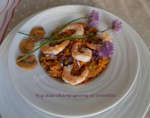 Riz aux champignons et crevettes DSCN4225
