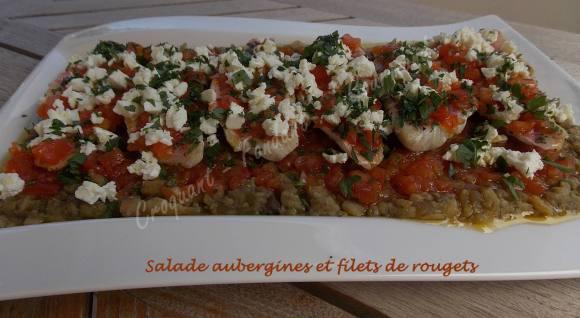 Salade aubergines et filets de rougets DSCN5205