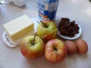 Flognarde aux pommes et aux marrons P1010954