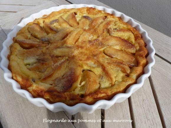 Flognarde aux pommes et aux marrons P1010989