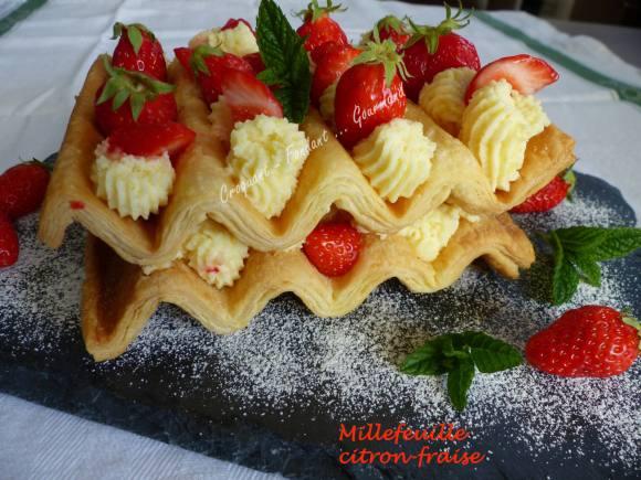 Millefeuille citron-fraise P1030062