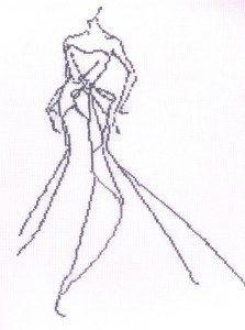 cross stitch fashion sketch 3