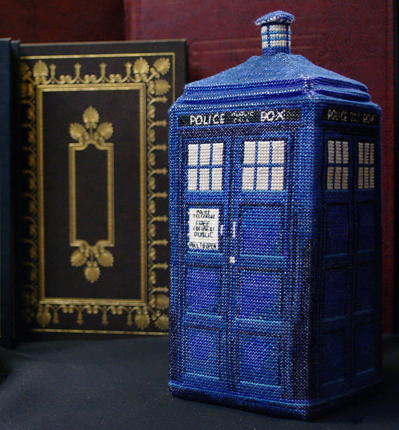Inspiration: 3-D Tardis Cross Stitch