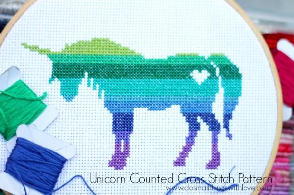 Freebie Unicorn Pattern Cross Stitch