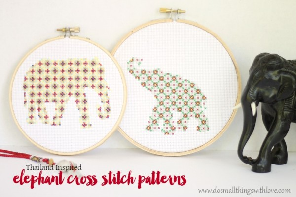Thailand-inspired-elephant-cross-stitch-patterns