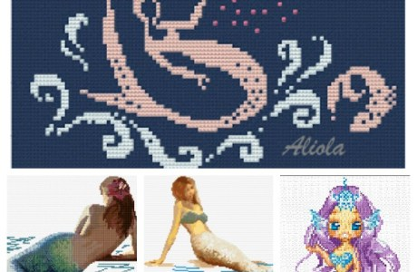 Mermaid Cross-Stitch Patterns