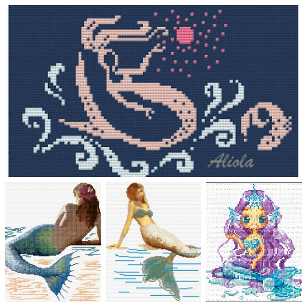 mermaid cross stitch patterns