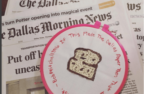 Stitching Comments from Stories a Side Hobby for Reporter