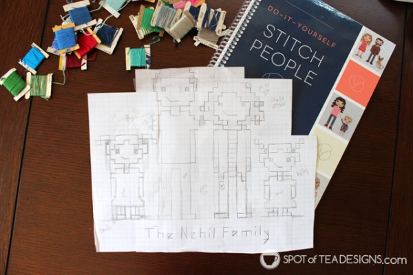 Stitch your family portrait with help from Do-It-Yourself Stitch People book