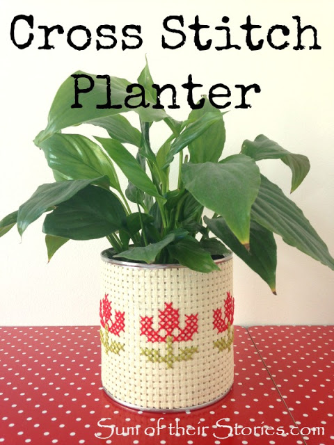Stitch up a cross stitch planter.