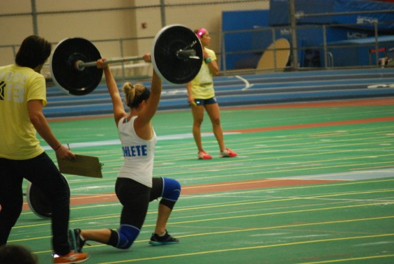 Ali G. lunged her way to a 2nd place finish in the scaled division. It's gotta be the shoes!