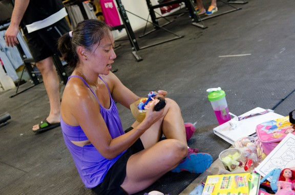 Some people like to roll out post-wod...some people like to play with dolls...