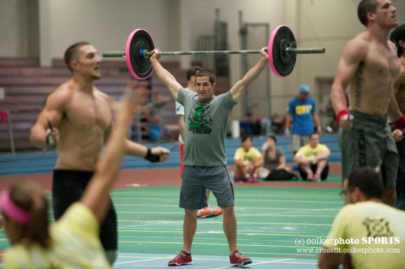 Nothing funny here just the hardest working man in Crossfit.