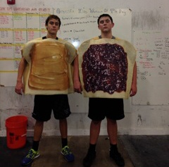 The meanest PB&J I've ever seen...yikes don't wanna see these in a dark alley...actually give me a big glass of milk and I'll be ok.