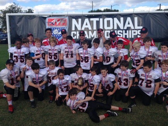 Congratulations to Bob Leonhardt and the 5th Grade Wellesley Jr Raiders for the AYF National Championship! Not only did they win but they went 16-0! Way to go!