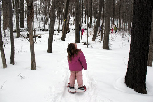 Snow shoeing!