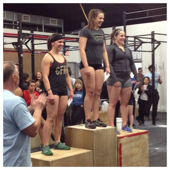 "Congrats Liz on taking 3rd this past weekend at CrossFit Unions ""Prove Your Fitness"" Throwdown!"