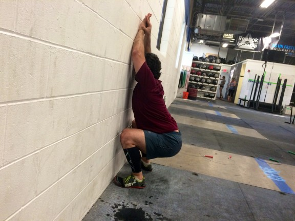 Someone's been working on their wall squat. GO LUIS!