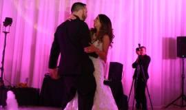 Robert & Vanessa's Wedding Video-Up Lighting, flood lights, gobo monogram. Padua Hills Theatre