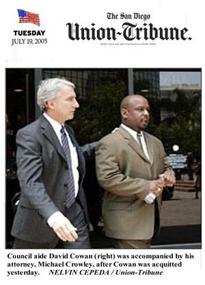 San Diego Union-Tribune photo-caption about Michael Crowley