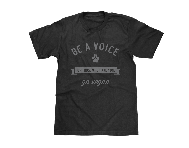be a voice for animals go vegan tee