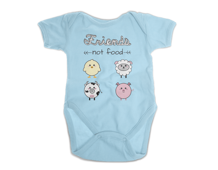Friends Not Food Onesie