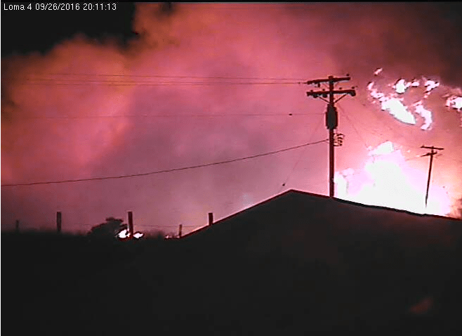 Loma Fire from Cruzio security camera, 8:11 pm
