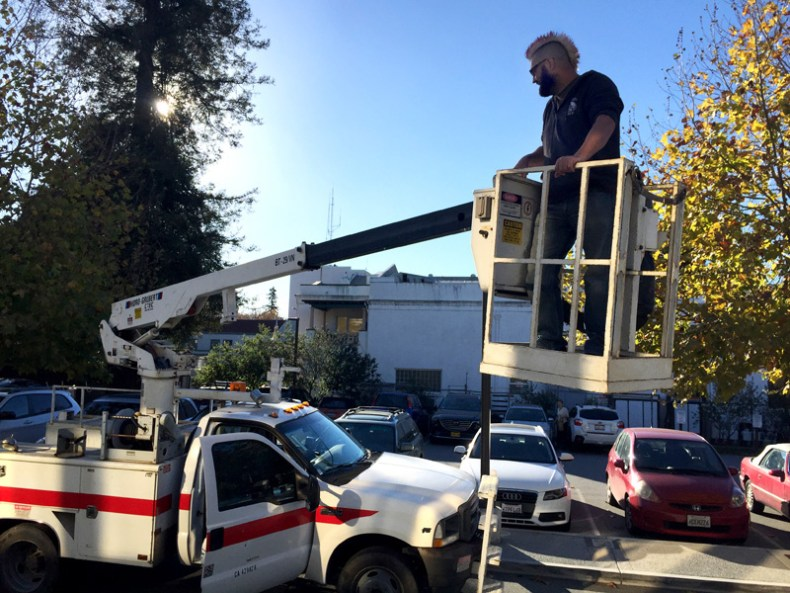"""Our new bucket truck """"Number 88"""""""