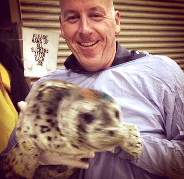 Doug at his marine mammal rescue post