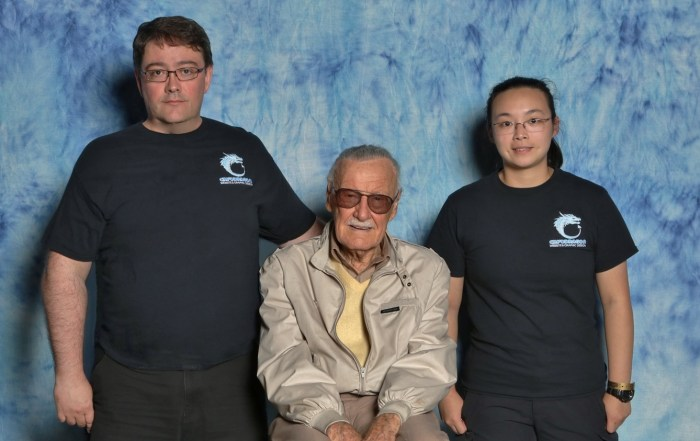 CryoDragon Team with Legendary Creator Stan Lee