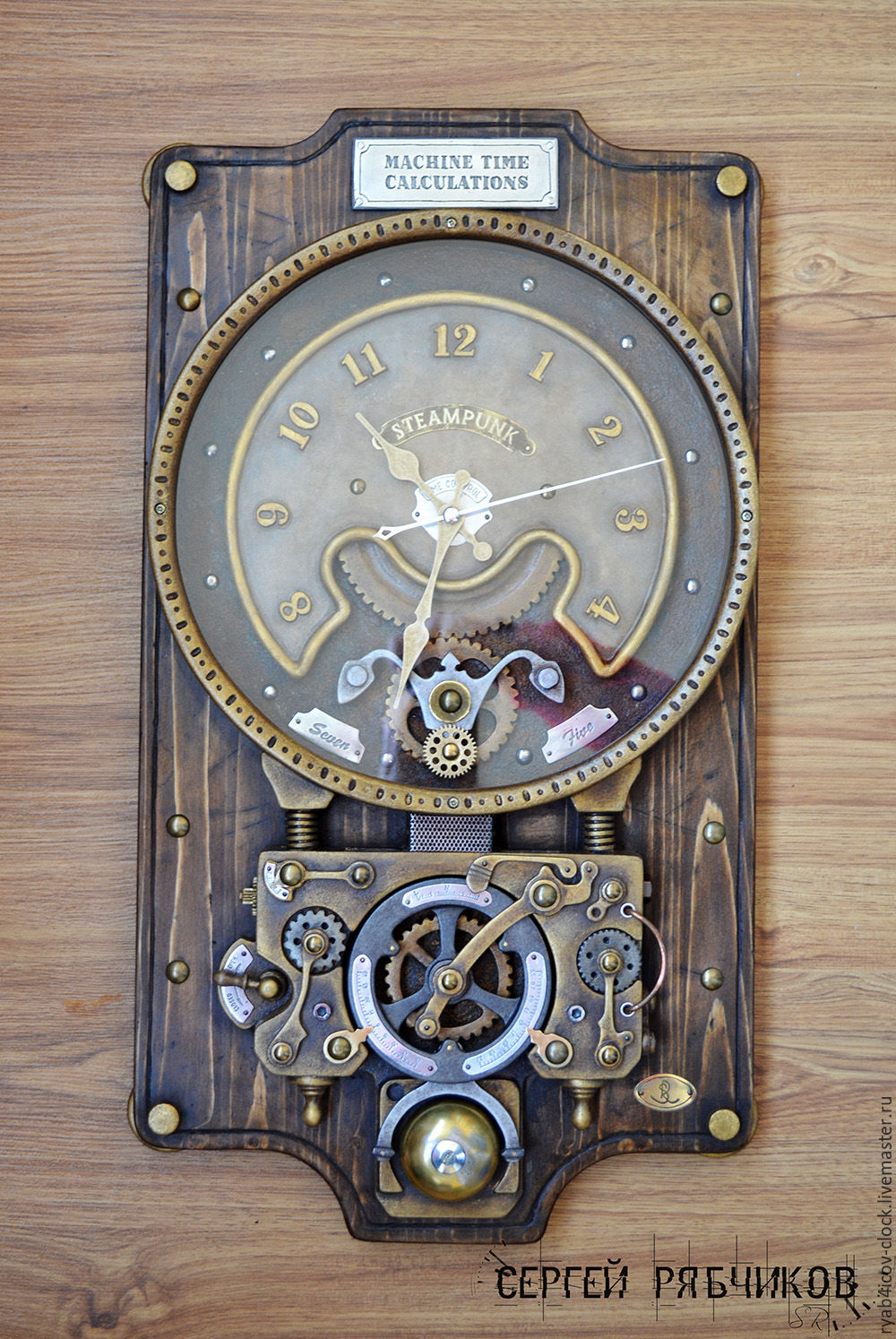 Fullsize Of Steampunk Wall Clock