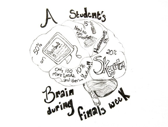 Students brain — Illustration by Ashley Swanson.