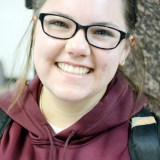 Bad enough to need glasses.  Mary Anne Johnson, 21, Rapid City, South Dakota