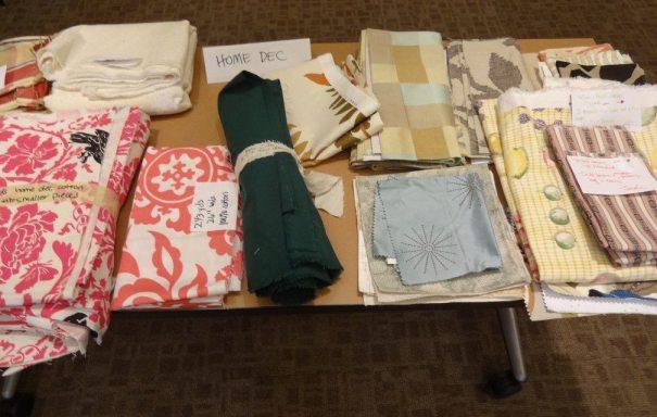 Fabric swap - home dec fabric