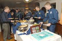 (Photo by Dave Armer) Cadet Aces gather recently to be honored by Academy leaders.