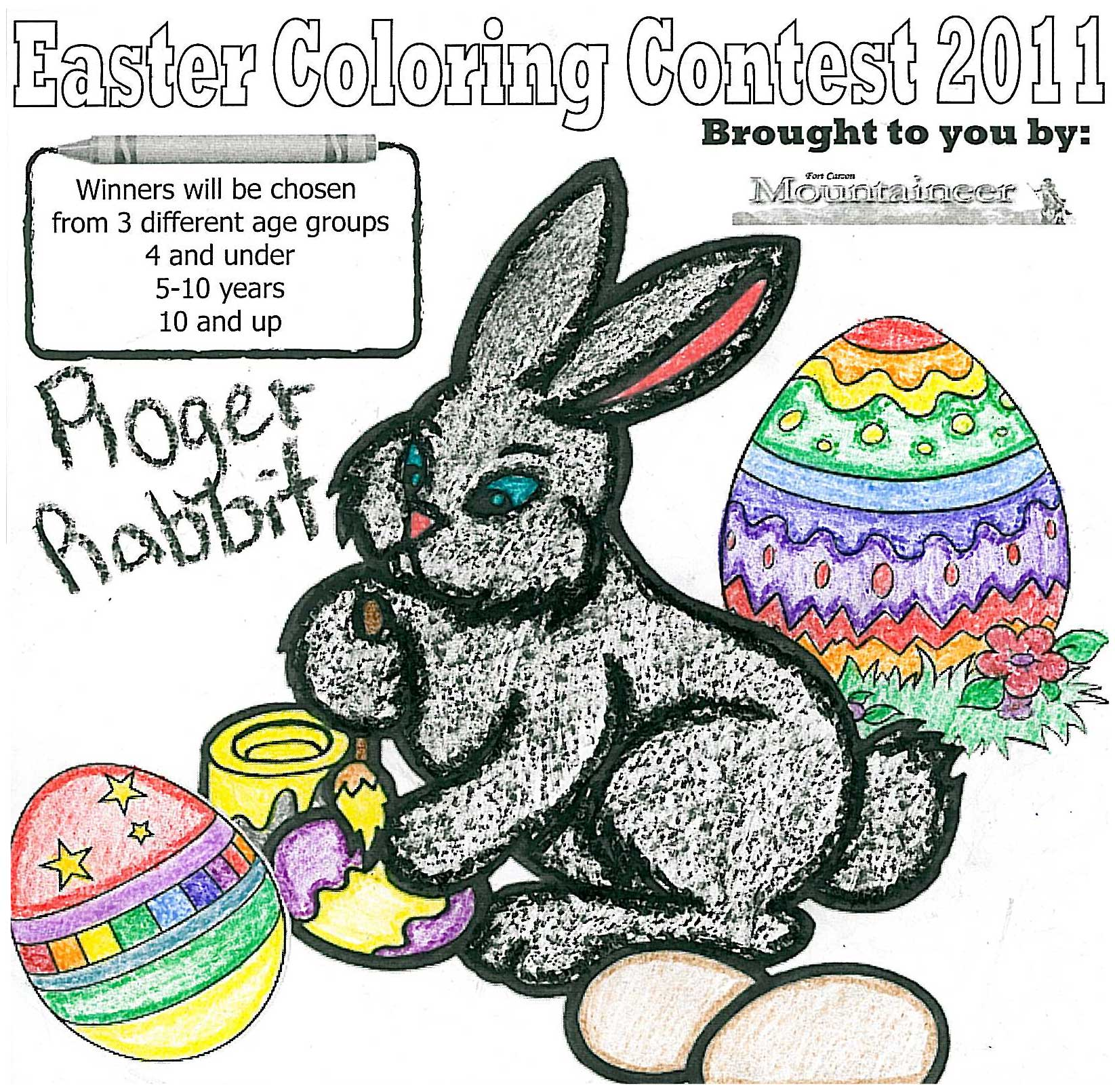 2011 easter coloring contest colorado springs military newspaper group Coloring Contest Flyer  Coloring Contest Age Groups