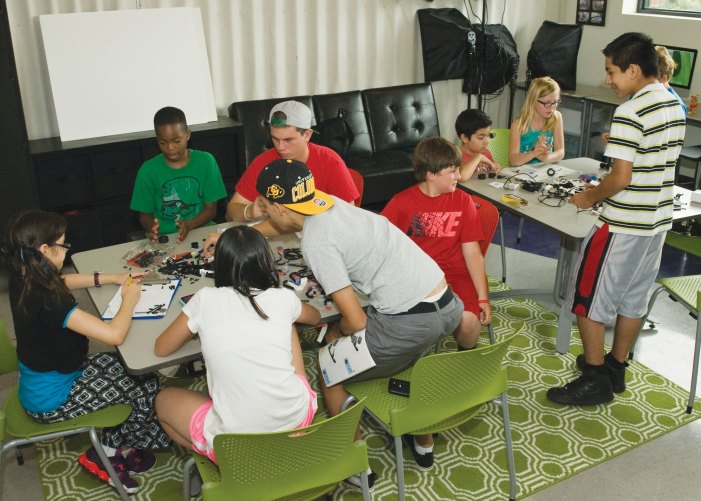 Kids learn robotics and aerodynamics in STEM camp