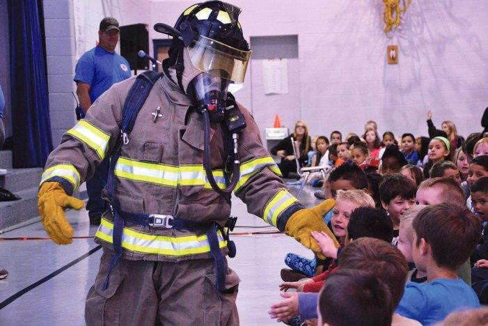 Schriever FD visits Ellicott schools