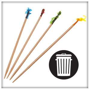 Toothpicks with frill - trash 300px