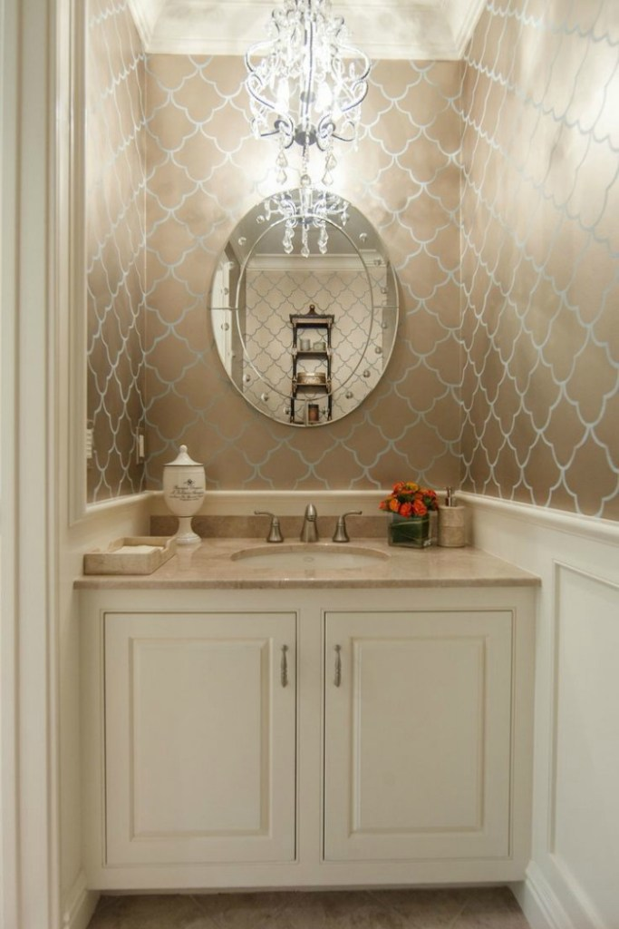 Beautiful powder rooms connecticut in style for Pretty bathrooms